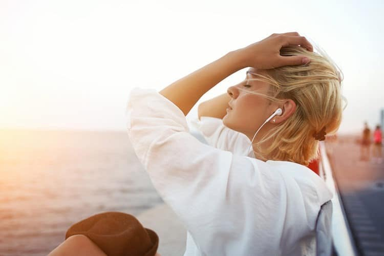 Woman wondering if her headphones can cause ear infections
