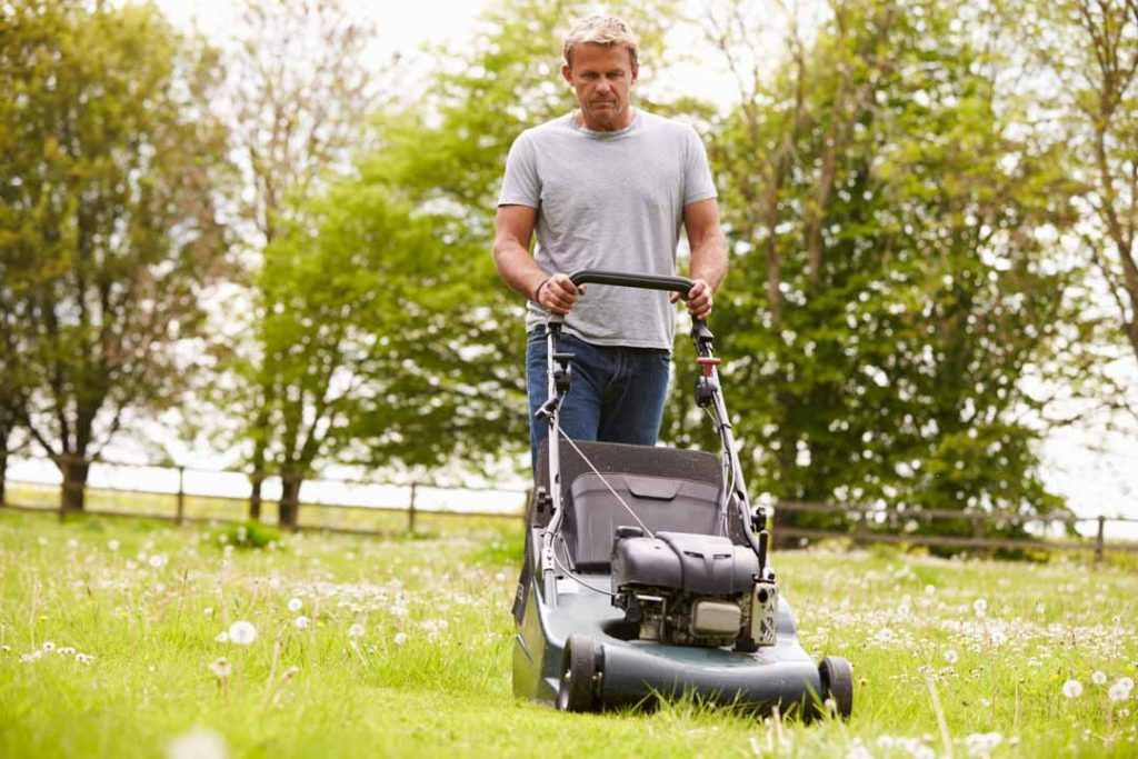 Can a lawn mower cause hearing damage