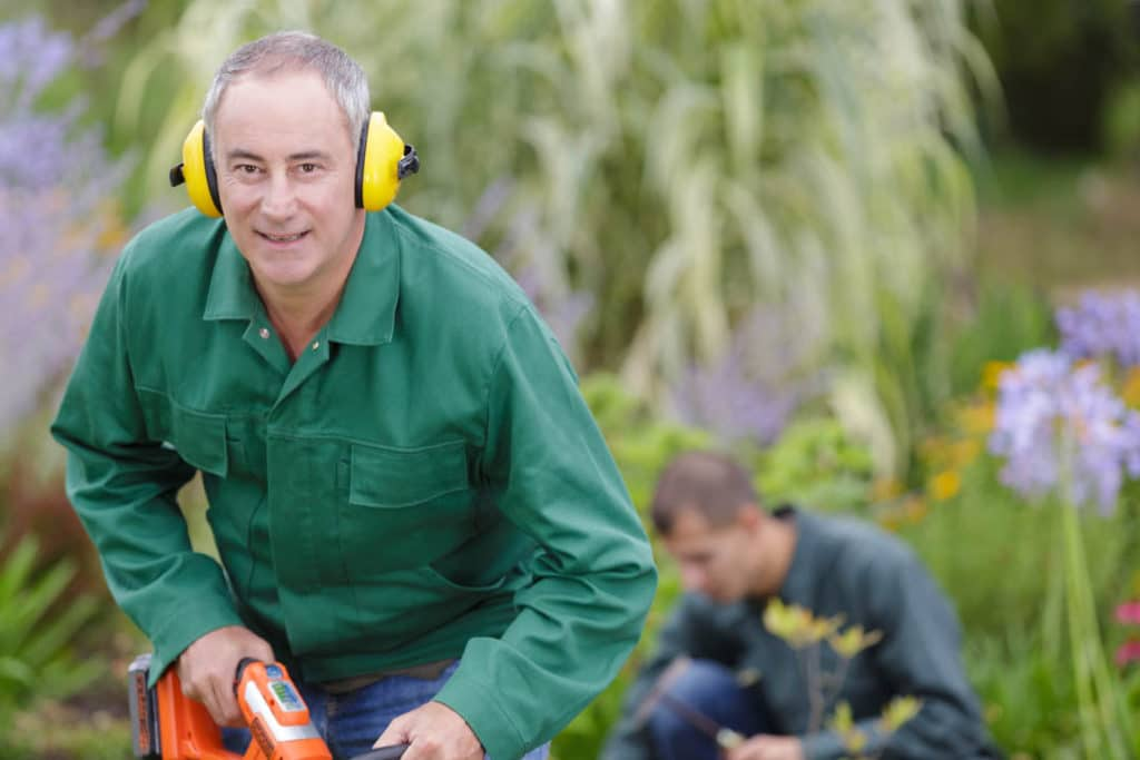 Should you wear ear protection while mowing a lawn