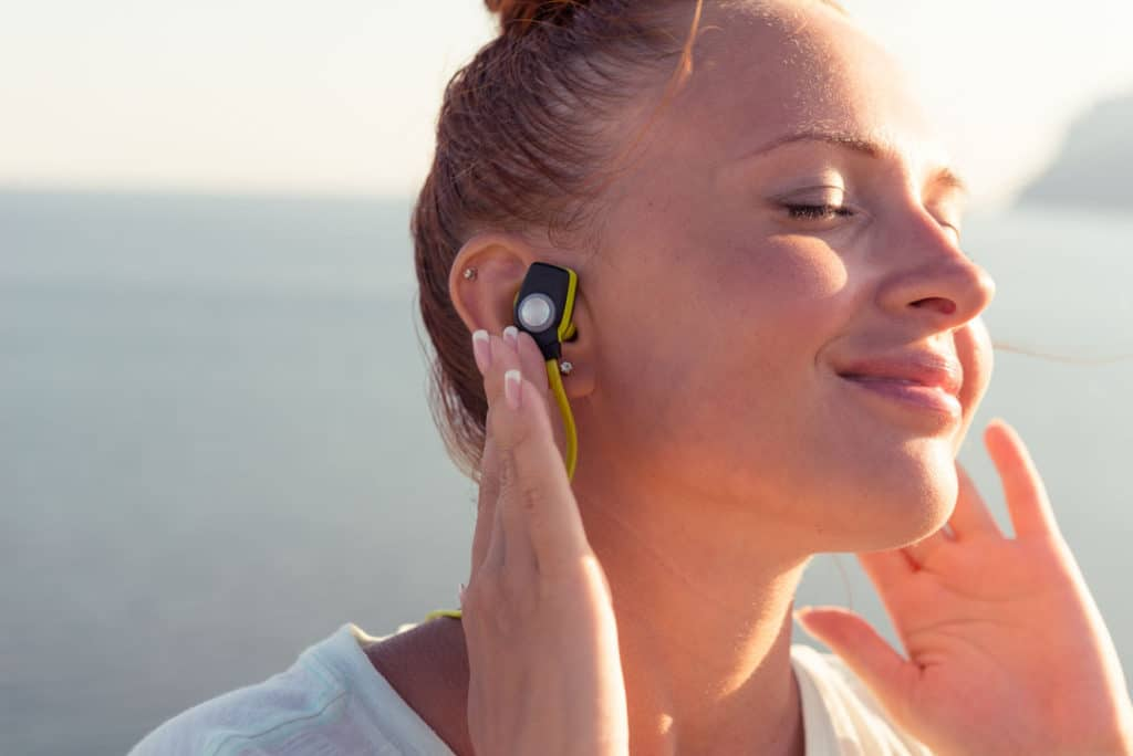 Tip #7 Consider getting behind the neck earbuds