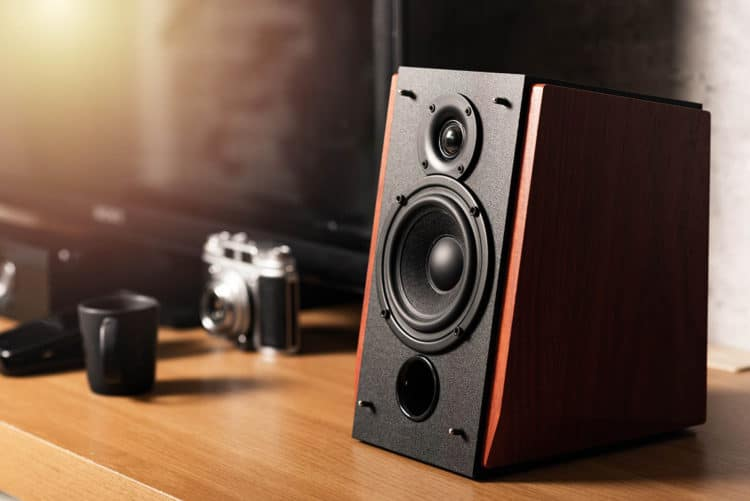 How do you connect coaxial cable to speakers