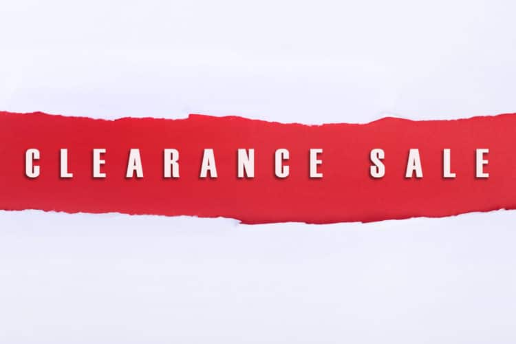 Factory Buyout Clearance Sale
